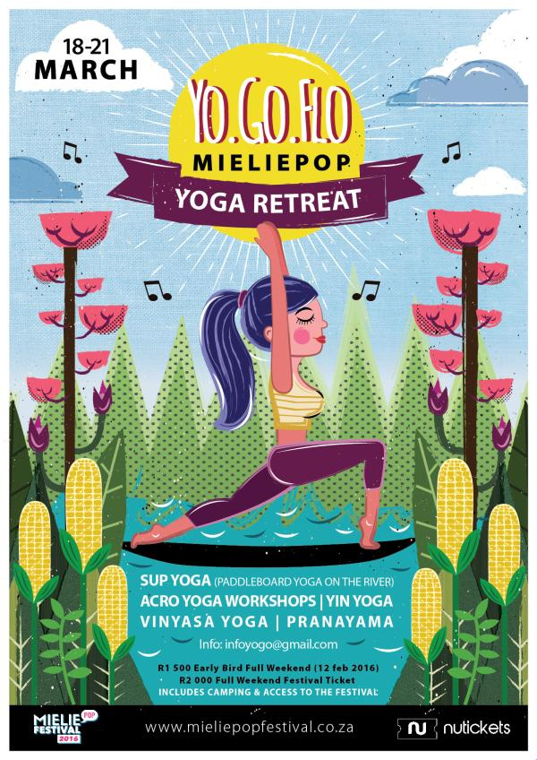Yo.Go.Flo Yoga retreat at Mieliepop Music Festival 2016